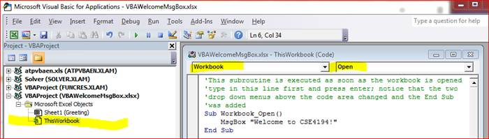 PROGRAMMING IN VISUAL BASIC There has to be some kind of
