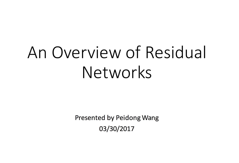 Personal Page of Peidong Wang